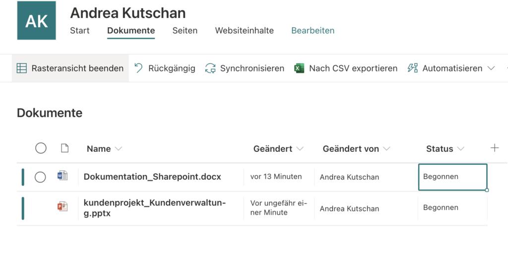 Sharepointbibliotheken Teamwebsite zentrale Arbeiten Sharepoint mit Spalten arbeiten um in Bibliotheken schneller zu filtern